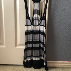 Black and grey stripped tank top